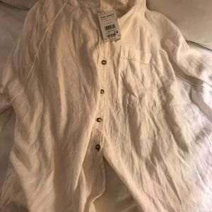 NWT!! Free People white blouse